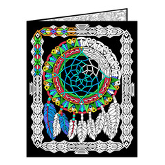 Dream Catcher Fuzzy Velvet Coloring Folder