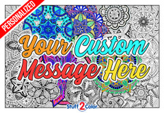 Personalized Mandala Madness (Giant Sized)