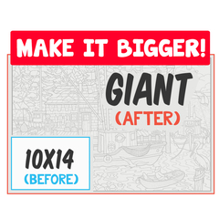 Make It Bigger - 10x14 to Giant Poster Conversion