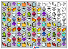 Halloween - 10x14 Coloring Poster