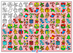 Christmas Doodles - 10x14 Coloring Poster