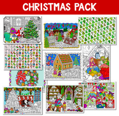 Christmas Line Art Bundle - 10 Pack