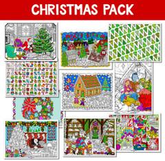 Christmas Line Art Bundle - 10 Pack
