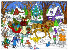 Sleigh Ride - Giant Coloring Poster
