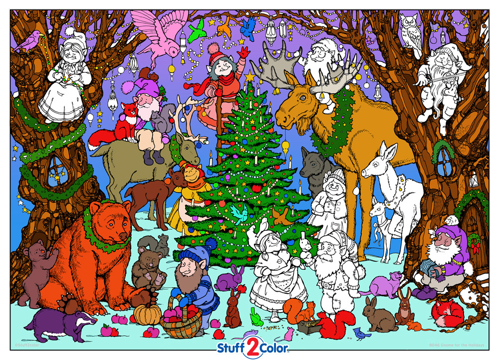 Gnome for the Holidays - Giant Coloring Poster