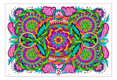 Giant Unify Mandala - Huge Coloring Poster
