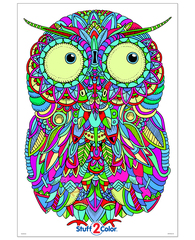 Baby Owl - Giant Coloring Poster for Kids and Adults (with FREE Bonus *LIMITED EDITION* Fully-Colored STICKER)
