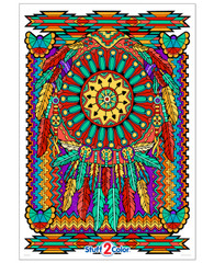 Dream Catcher - Giant Coloring Poster (All Ages)