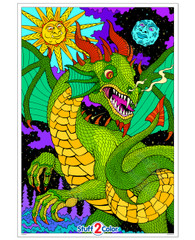 Dragon Skies - Giant Coloring Poster (This Design Is Awesome!)