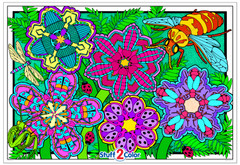 Flower Fun - Giant Coloring Poster