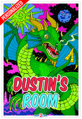 Personalized - Dragon Skies - Giant Coloring Poster