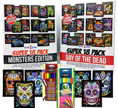 Halloween Bundle - 42 Posters + 8 Markers + 12 Color Pencils + 2-Day Express Shipping