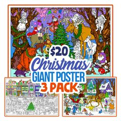 Christmas Giant Coloring Poster 3 Pack