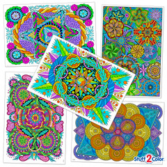 Mandala Wow! Pack - 5 Giant Coloring Poster Bundle