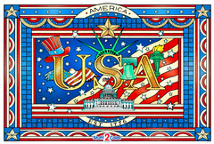 Patriotic - Giant USA Coloring Poster