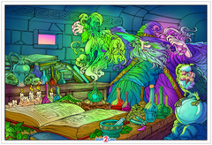 Wizard  - Giant Coloring Poster for Kids and Adults