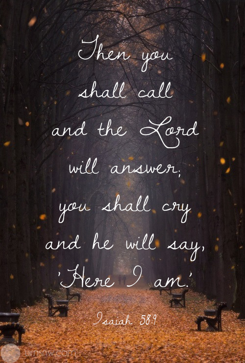 Isaiah 58:9,