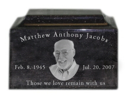 Engraved Photo Granite Urn
