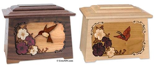 Hummingbird & Butterfly Cremation Urns