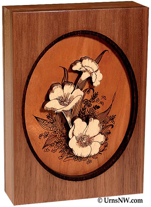Dimensional Keepsake Urn - Floral