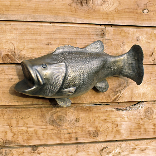 Wall Mounted Bass Fish Cremation Urn