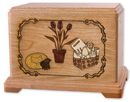 Gardener Cremation Urn in Oak Wood