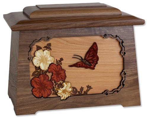 Butterfly Urn in Walnut