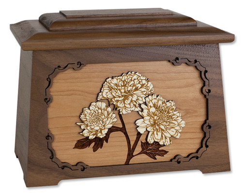 Mums Astoria Cremation Urn in Walnut Wood