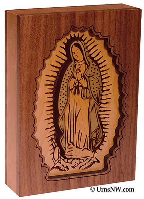 Our Lady of Guadalupe Dimensional Keepsake Urn