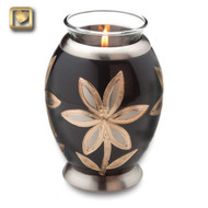 Tealight Cremation Urn with Lilies