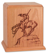 """End of the Trail"" Cremation Urn in Cherry Wood"