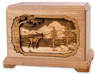 Moose in Forest Urn