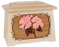 Hibiscus Flower Cremation Urn