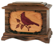 Cardinal Cremation Urn - Walnut Wood