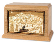 Alaskan Dogsled Cremation Urn