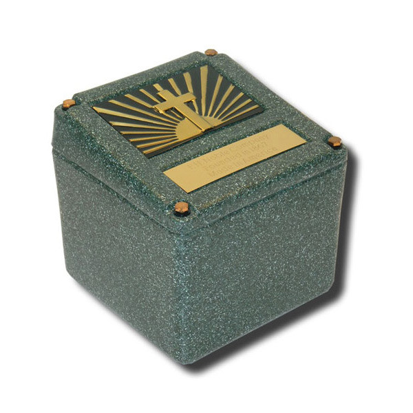 Convertible Burial Vault for Small Cremation Urn