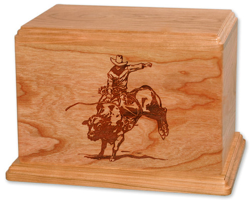 Bull Riding Rodeo Cremation Urn