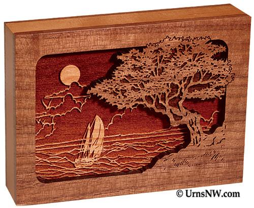 Seascape Dimensional Keepsake Urn