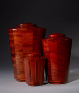 Hand Turned Padauk Wood Cremation Urn