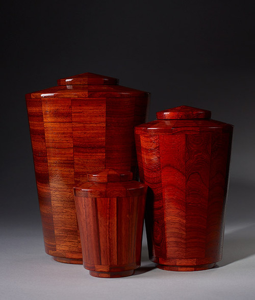 Hand Turned Padauk Wood Cremation Urn