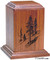 Vertical Series Laser Engraved Keepsake Urn