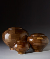 Hand Turned Rounded Walnut Cremation Urn
