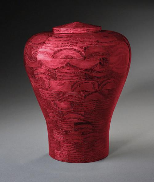 Pink Wood Cremation Urn