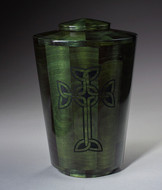 Hand Turned Celtic Cross Urn