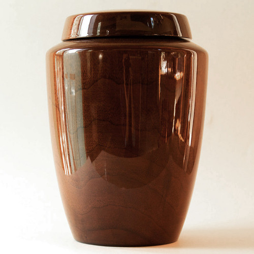 Simple Black Walnut Wood Companion Urn
