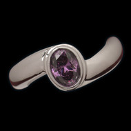 Birthstone Cremation Jewelry Ring - Deep Swirl Design