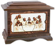Last Supper Cremation Urn - Walnut