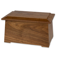 Sonata Wooden Cremation Urn - walnut