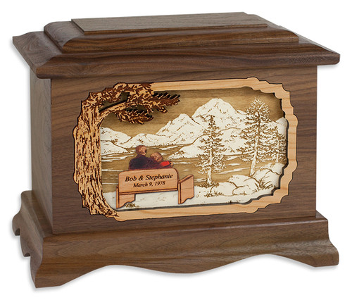 My Soulmate Wood Cremation Urn in Walnut