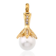 Flower Pearl Cremation Necklace